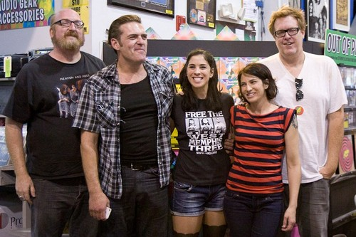 Sarah Silverman & Cast siging at Amoeba muziek