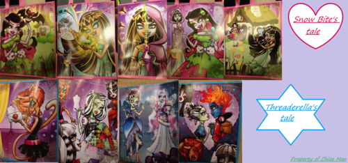 Monster High پیپر وال possibly with a stained glass window and عملی حکمت entitled Scary Tales