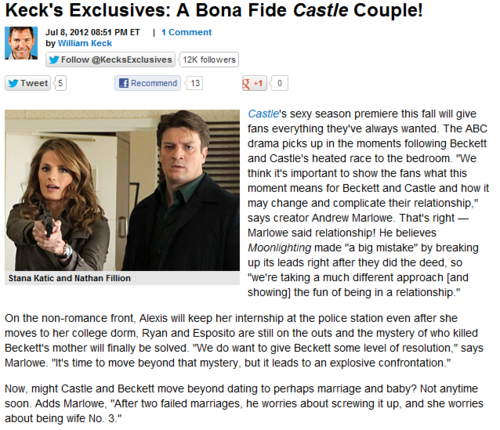 Season 5 - HURRY UP! - castle Photo