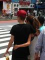 Selena & Justin in Tokyo - justin-bieber-and-selena-gomez photo