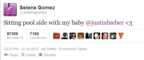 Selena & Justin tweets