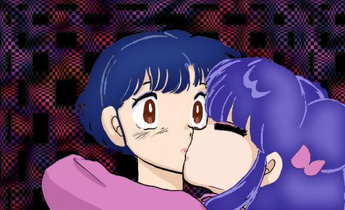 Shampoo and Akane (kiss?)