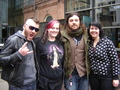 Seether with fans
