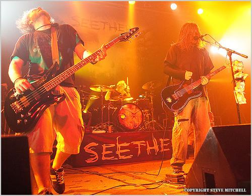 Seether during a concert