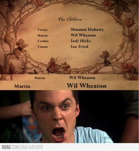 Sheldon would react this way.