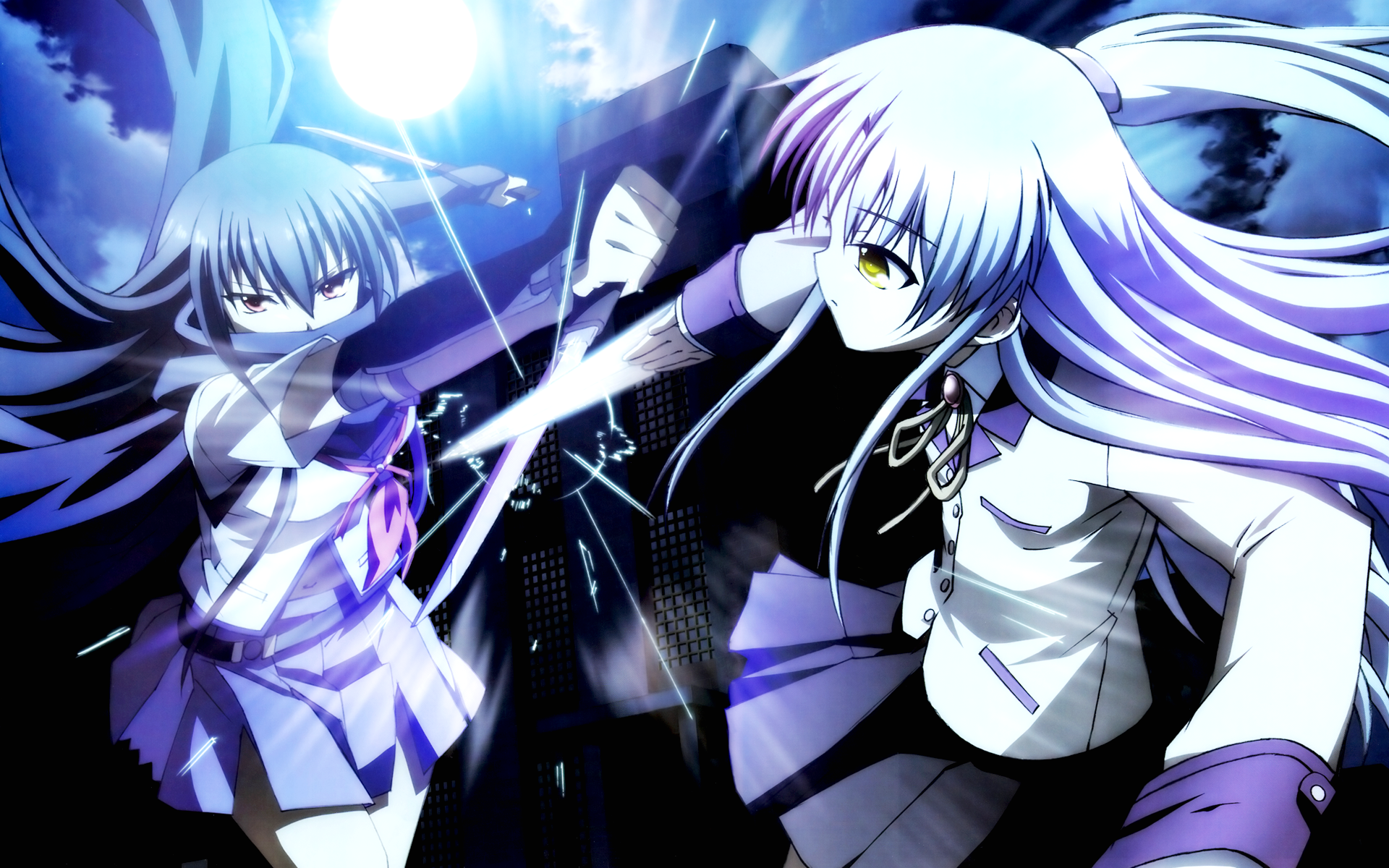 Shiina [Angel Beats ] images Shiina vs Tenshi 1 HD wallpaper and