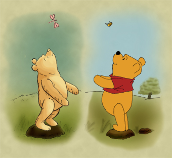 Winnie The Pooh kertas dinding possibly containing Anime entitled Silly Old menanggung, bear