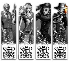 Skulduggery Pleasant fondo de pantalla possibly containing a holding cell and a revolving door titled Skulduggery Bookmarks