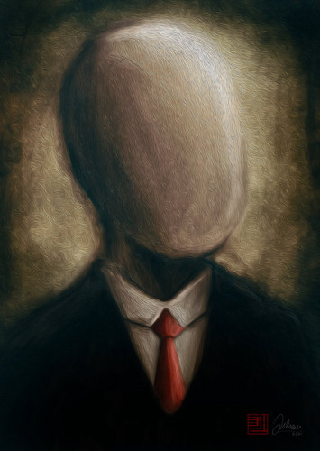 Slender man Painting - the-slender-man Fan Art