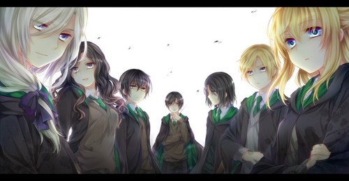 animé Harry Potter fond d'écran titled Slytherins