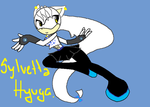 Silver the Hedgehog karatasi la kupamba ukuta with anime titled Slyvetta Hyuga