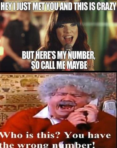 Sorry, wrong number