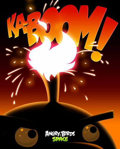 Angry Birds wallpaper titled Space Ka-Boom!