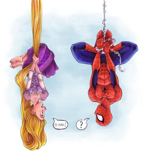 Spiderman vs Rapunzel