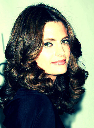 Stana Katic achtergrond with a portrait called Stana Katic
