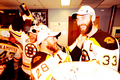 Stanley Cup 2011 - Locker Room Celebration - Mark Recchi & Zdeno Chara