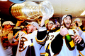 Stanley Cup 2011 - Locker Room Celebration - Brad Marchand & Patrice Bergeron