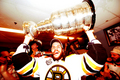 Stanley Cup 2011 - Locker Room Celebration - Daniel Paille