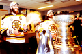 Stanley Cup 2011 - Locker Room Celebration - Zdeno Chara & Shane Hnidy
