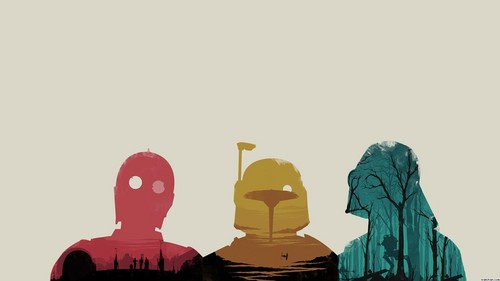 তারকা Wars Wallpaper- Trio
