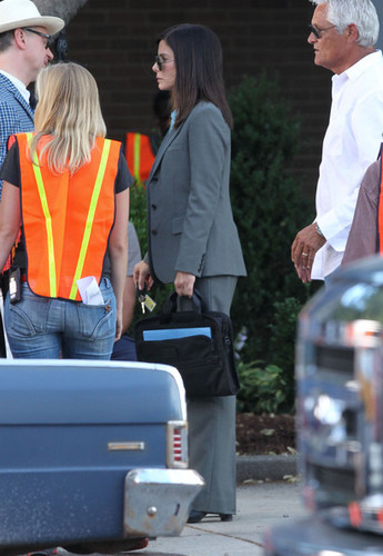 Stars On The Set Of 'The Heat' In Boston