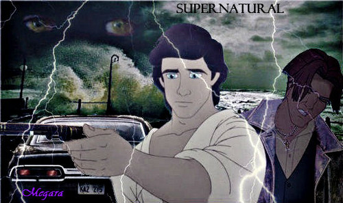 disney crossover achtergrond with anime called Supernatural