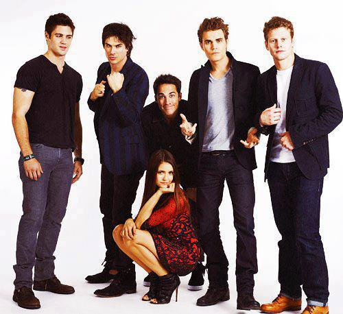 TVD CAST EW PORTRAIT - the-vampire-diaries-tv-show Photo