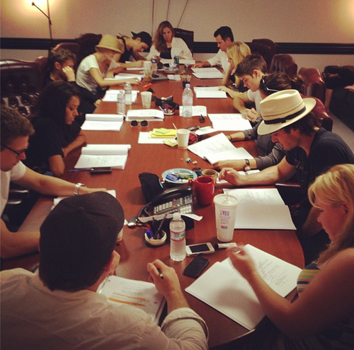 Table read for 4x01 - the-vampire-diaries-tv-show Photo
