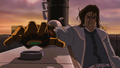 Tarrlok igniting the boat