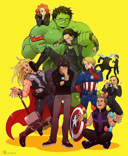 The Avengers wallpaper containing anime called The Avengers