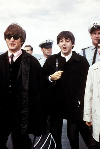The Beatles at a airport