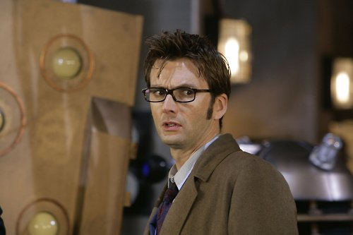 The Tenth Doctor wolpeyper with a business suit called The Doctor