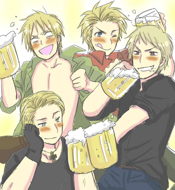 The Drunk Four - Hetalia Photo (31472806) - Fanpop