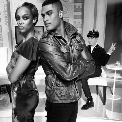 tyra banks wallpaper possibly with a hip boot entitled Tyra and Rob Evans