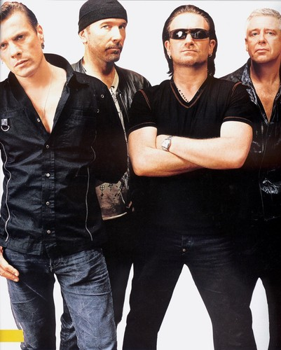U2 wallpaper probably containing a business suit called U2  (Rolling Stone)