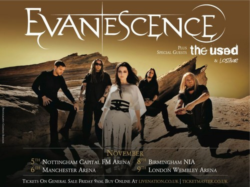 UK concert poster