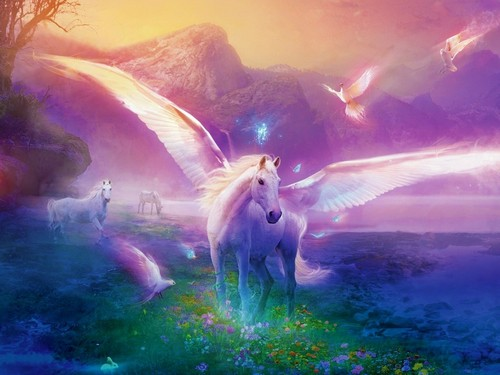 Fantasy Hintergrund called Unicorn