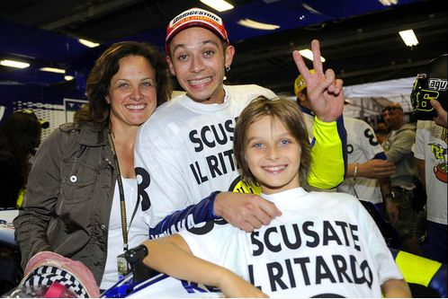 Valentino with mom Stefania and half-brother Luca