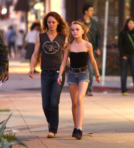 Vanessa & Lily-rose in Hollywood, California 01.06.12