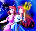 Walt Disney Fan Art - Cinderella & Princess Ariel