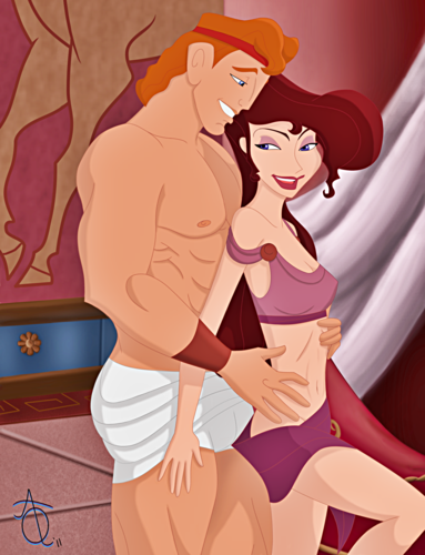 Walt disney fan Art - Hercules & Megara