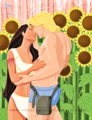 Walt Disney Fan Art - Pocahontas & John Smith - walt-disney-characters fan art