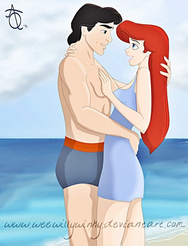 Walt 迪士尼 粉丝 Art - Prince Eric & Princess Ariel