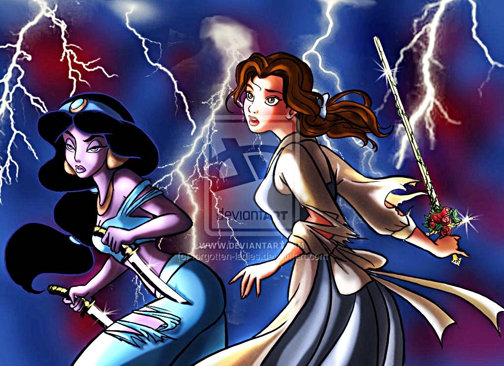 Walt Disney Fan Art - Princess Jasmine & Belle