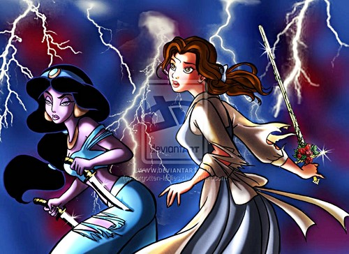Walt Disney fan Art - Princess gelsomino & Belle