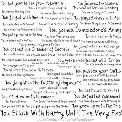 We stuck with Harry until the very end