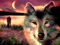 Wolf  - fantasy photo