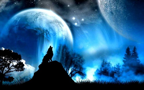 Fantasy wallpaper entitled Wolf