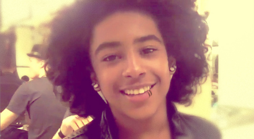 Princeton (Mindless Behavior) پیپر وال probably with a portrait called Yall wanna see what prince look like with a مکڑی bite? :D