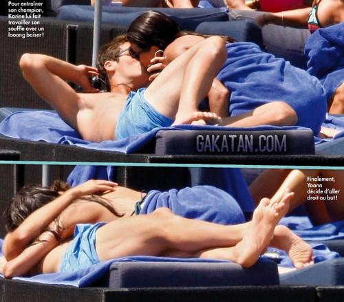 Yoann Gourcuff with his girlfriend Karin Ferri